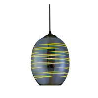Oval Chrom E27 3D Pendellampe Hängeleuchte Pendelleuchte - LASER
