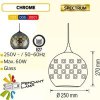 Rund Chrom E27 3D Pendellampe Hängeleuchte Pendelleuchte - SPECTRUM