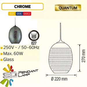 Oval Chrom E27 3D Pendellampe Hängeleuchte Pendelleuchte - QUANTUM