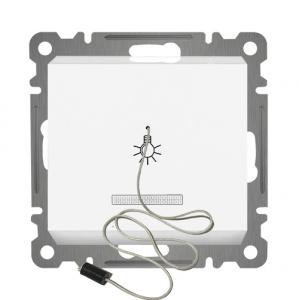 ZUGSCHALTER MIT LED ( Einsatz + Wippe ) KAREA Alpinweiss