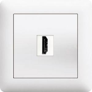 HDMI DOSE EIN UND AUSGANG ( Einsatz + Deckel ) LUNIS...