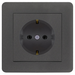 SCHUKO SOCKET OUTLET SCREWLESS MODULE+COVER