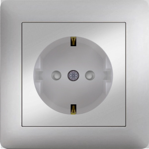 SCHUKO SOCKET OUTLET WITH CHILD PROTECTION SCREWLESS...