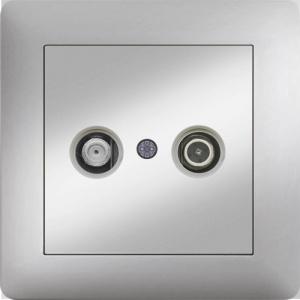 TV RADIO ANTENNA SOCKET TRANSIENT 7dB MODULE+COVER
