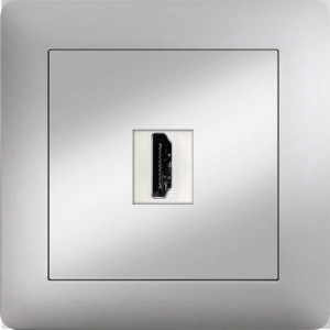 HDMI SOCKET OUTLET MODULE+COVER