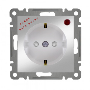SURGE PROTECTED GROUNDED SOCKET OUTLET  MODULE+COVER