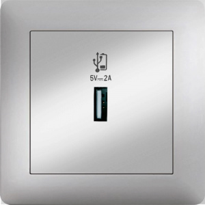 USB CHARGE SOCKET OUTLET MODULE+COVER