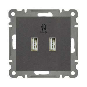 DOUBLE USB CHARGE SOCKET OUTLET MODULE+COVER