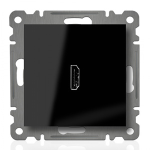HDMI ANSCHLUSSDOSE  ( Einsatz + Deckel ) LUNIS SCHWARZ