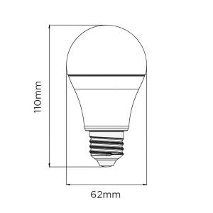 12W LED LEUCHTMITTEL E27 6500K KALTWEISS  (Ø 80MM)...