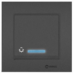 Kopie von TASTER MIT LED ( Einsatz + Wippe ) LUNIS ANTHRAZIT