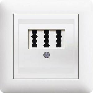 NFN TAE Telefon Dose ( Einsatz + Deckel ) LUNIS Alpinweiss