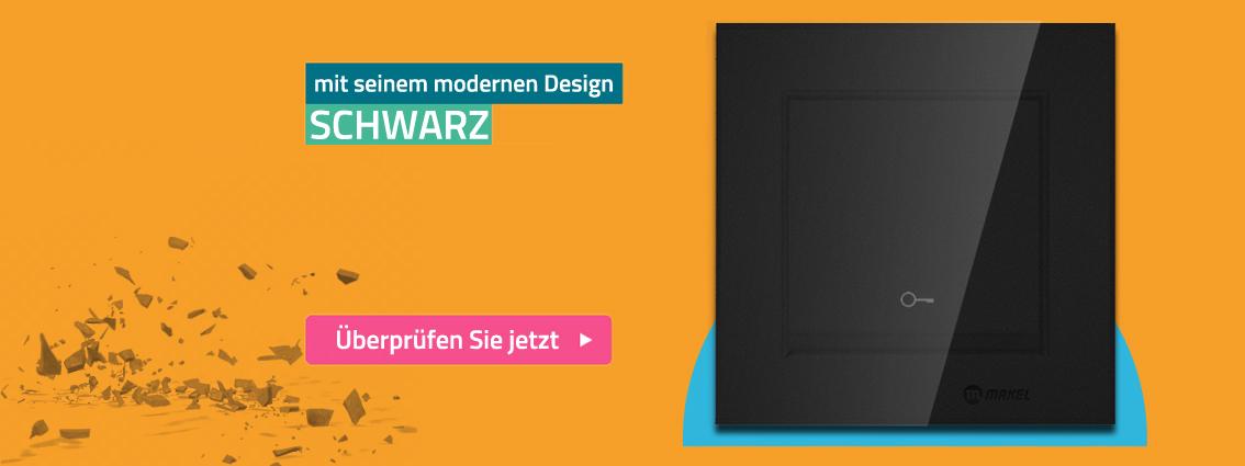Mit einem modernen design schwarz